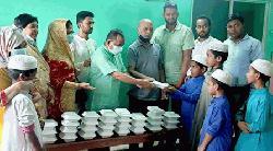 খালেদা জিয়ার সুস্থতা কামনায় এতিমদের মাঝে খাবার বিতরণ ও দোয়া মাহফিল অনুষ্ঠিত