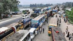 ঢাকা-টাঙ্গাইল মহাসড়কে ২৫ কিলোমিটার যানজট