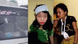পাহাড়ে পর্যটকদের গাড়িতে সন্ত্রাসীদের গুলি, ২ নারী আহত