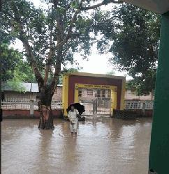 চাঁপাইনবাবগঞ্জে অল্প বৃষ্টি হলেই স্কুলে জলাবদ্ধতা, দূর্ভোগে শিক্ষক-শিক্ষার্থীরা